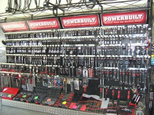 Large Powerbuilt tool selection
